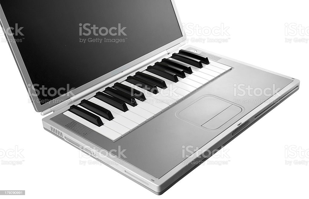 Musique Clavier d'ordinateur photo libre de droits