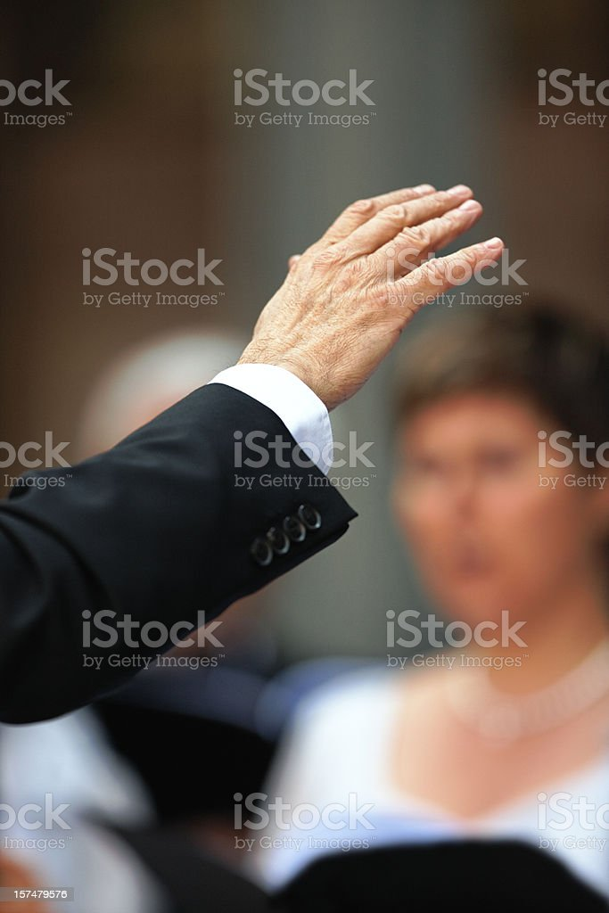 Musical Conductor stock photo