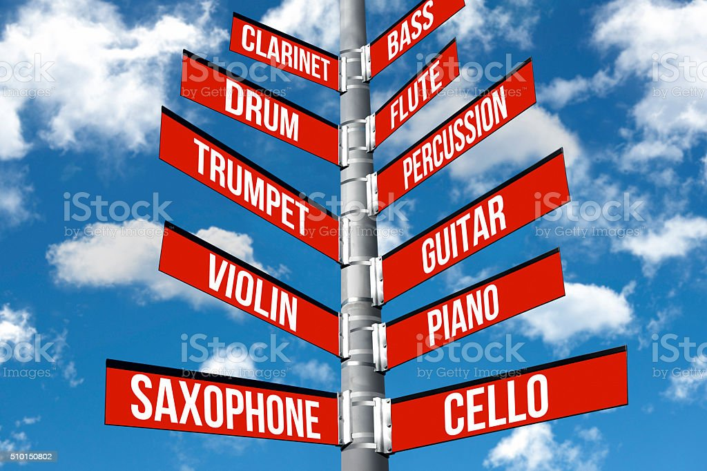 Musical decisions stock photo