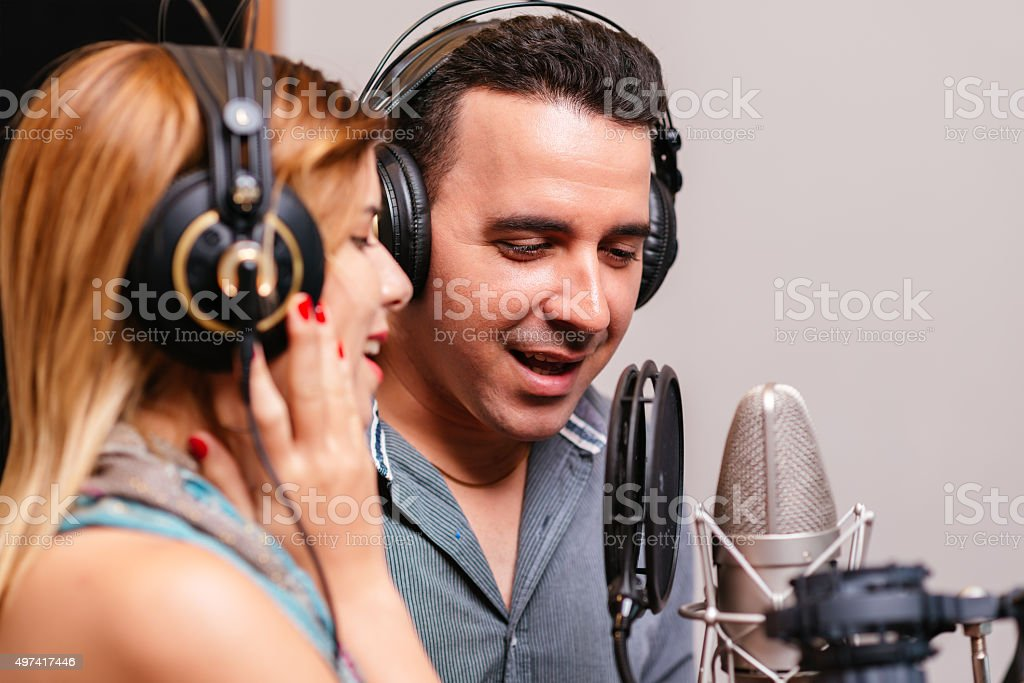 Musical duet stock photo