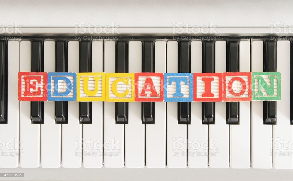 Musical Education stock photo