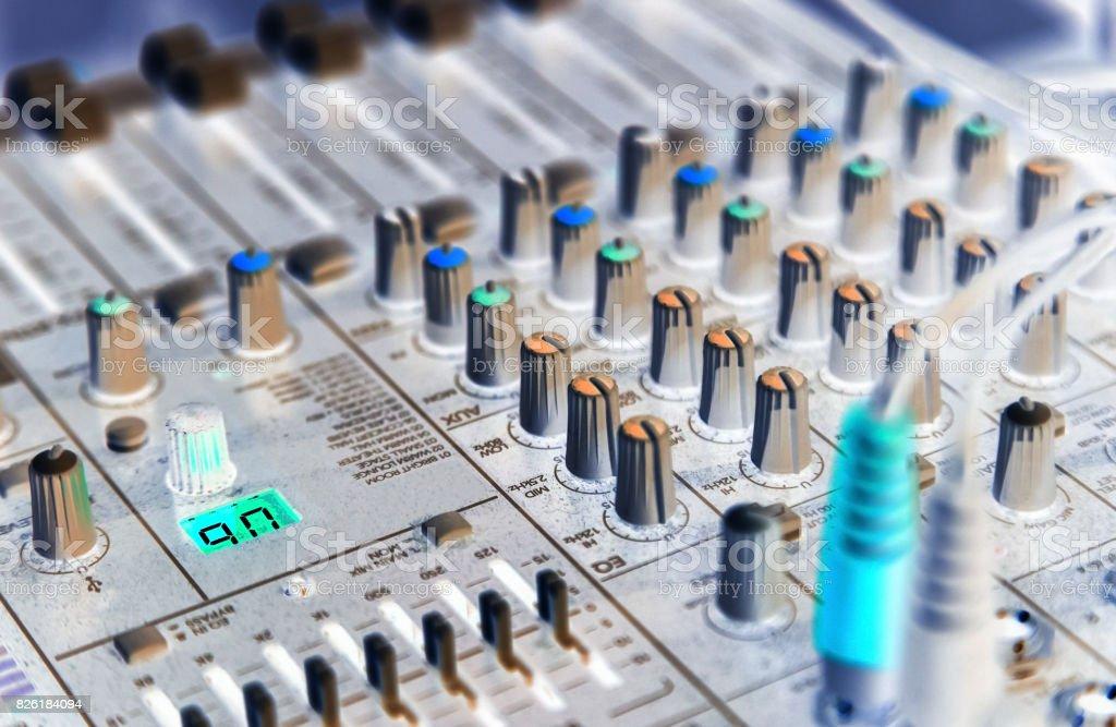 Musical equipment, closeup stock photo