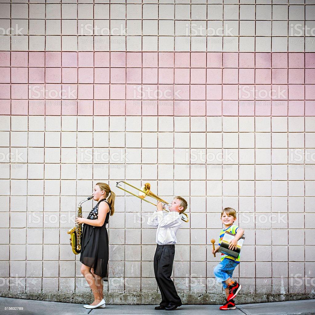 Musical evolution stock photo
