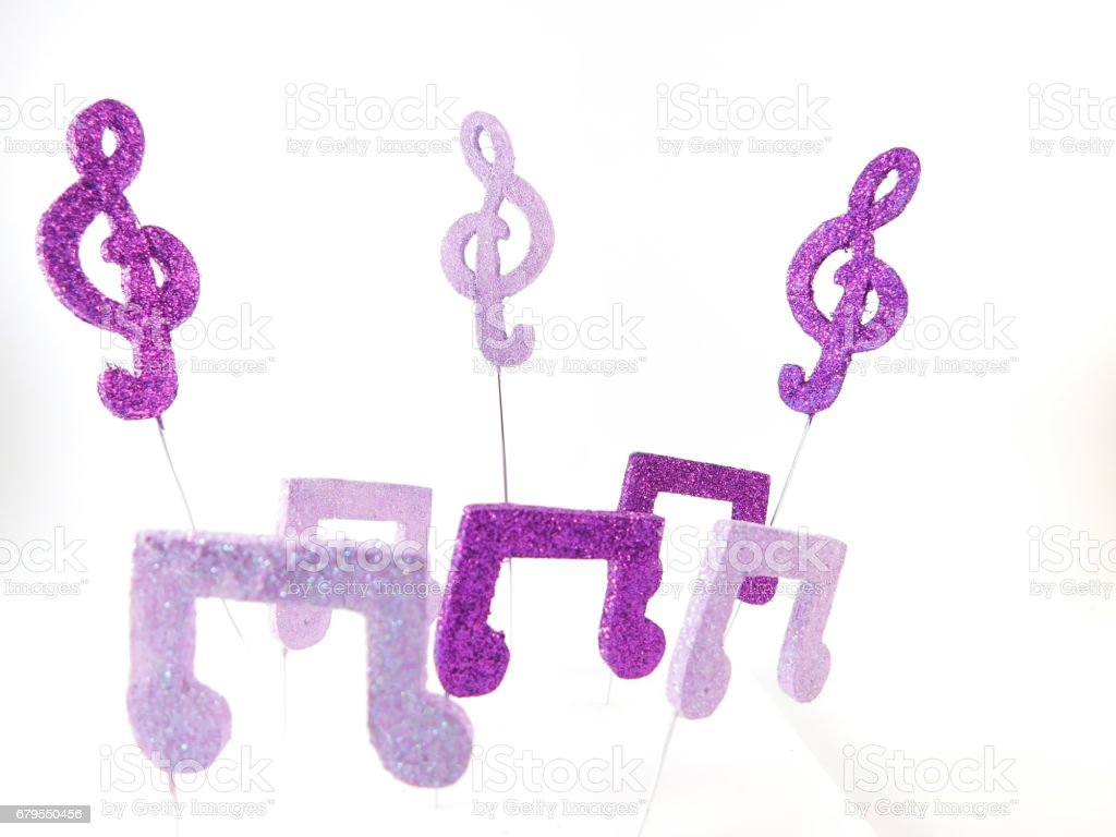 Musical figures and keys. stock photo