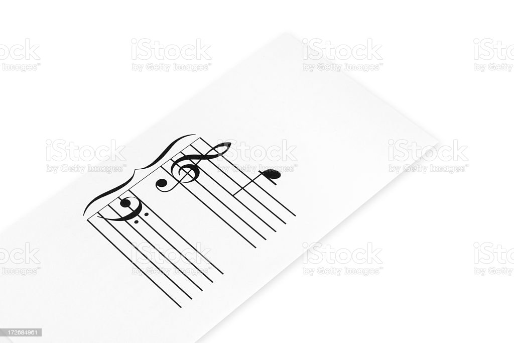Musical Flash Card royalty-free stock photo