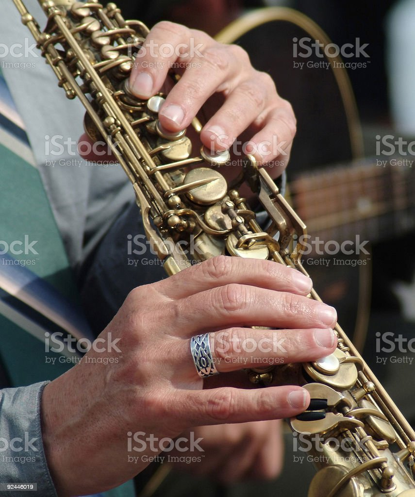Musical hands royalty-free stock photo