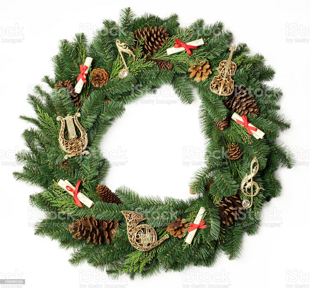 Musical Holiday Wreath royalty-free stock photo
