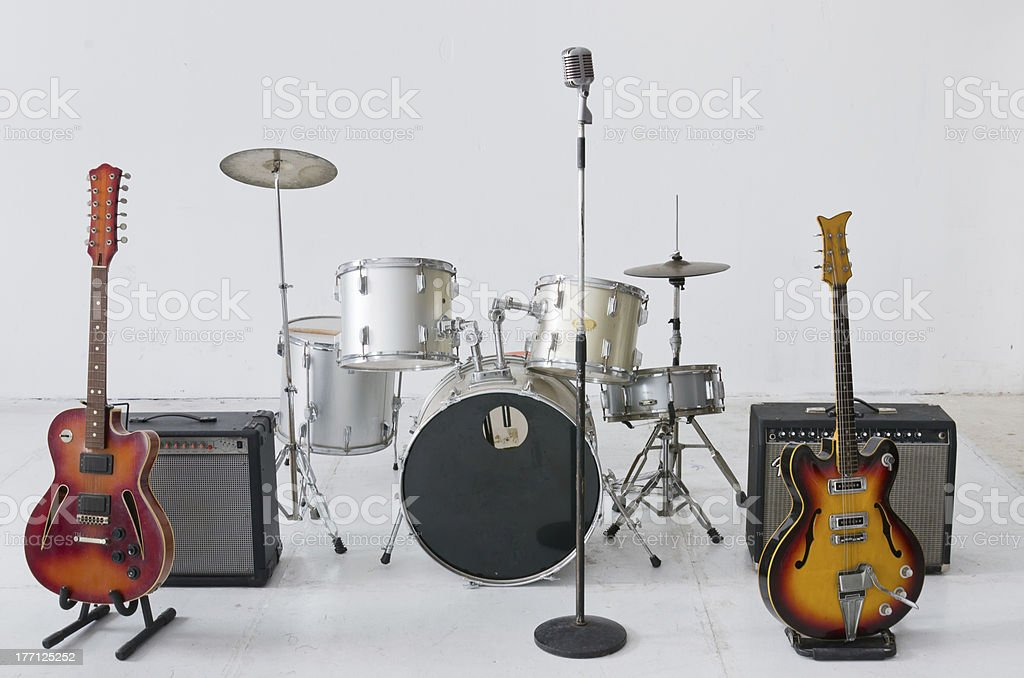 Musical instrument group stock photo