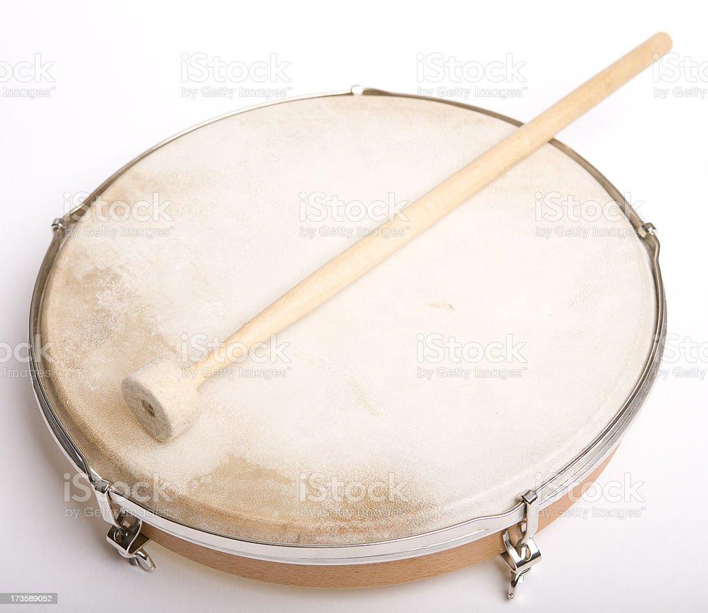 Musical instrument hand drum stock photo