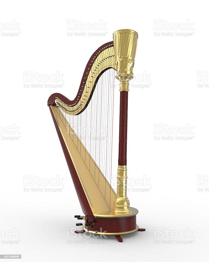 Musical Instrument Harp stock photo