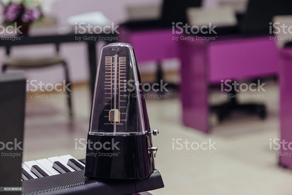 Musical instrument indoors stock photo