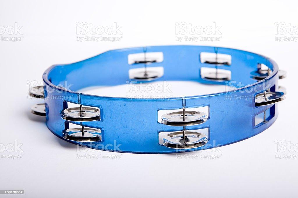 Musical instrument tambourine royalty-free stock photo