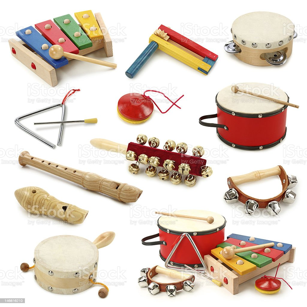 Musical instruments collection royalty-free stock photo