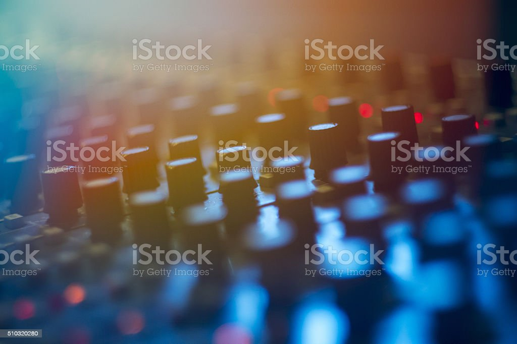musical instruments for recording stock photo