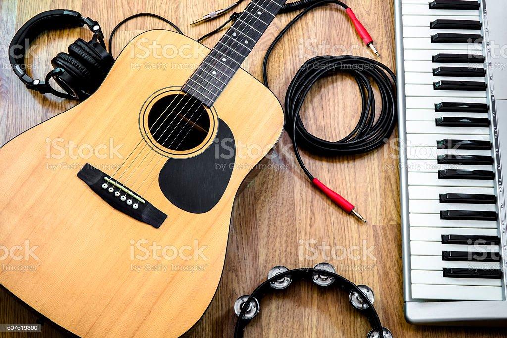 Instruments de musique stock photo