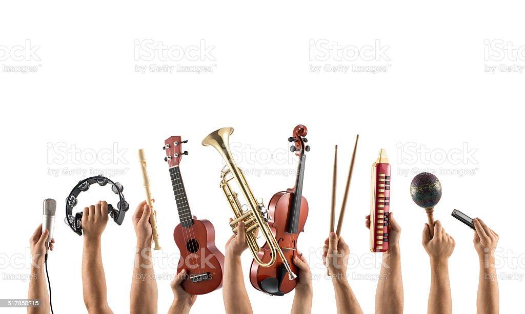 musical instrumentss stock photo