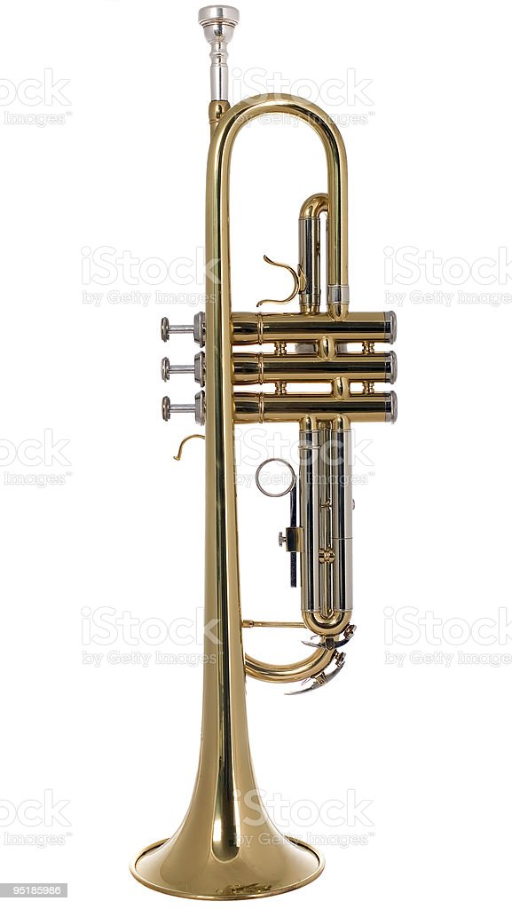 Musical instument trumpet royalty-free stock photo