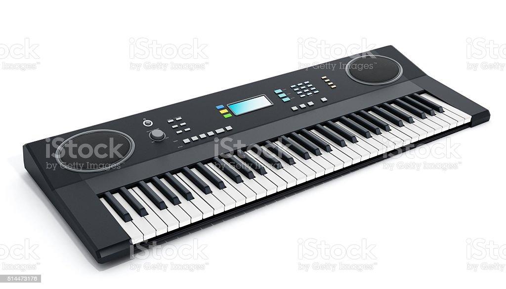 Musical keyboard stock photo