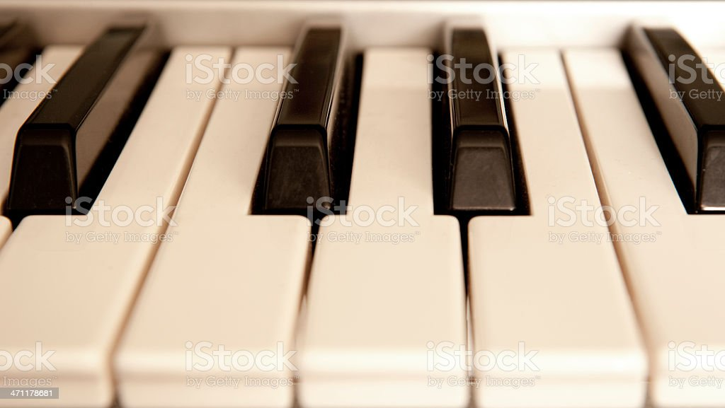 Musical Keys stock photo