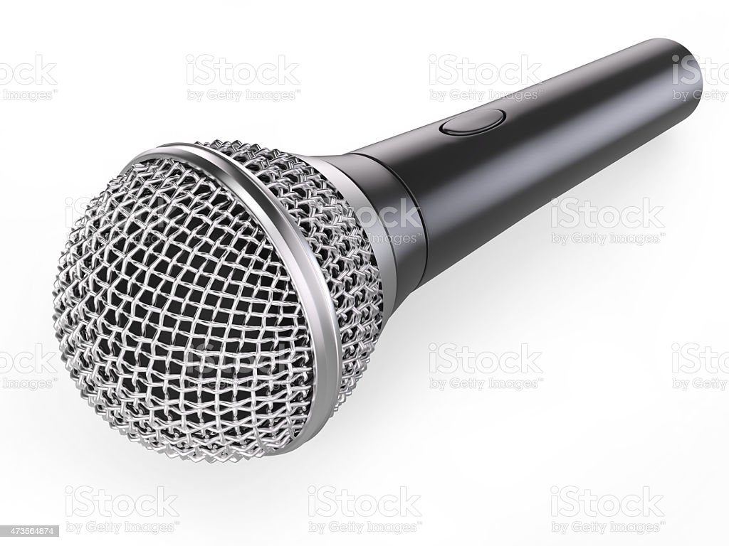 Musical microphone stock photo