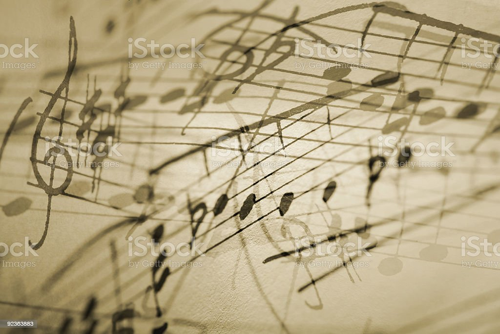 Musical Notation Background stock photo