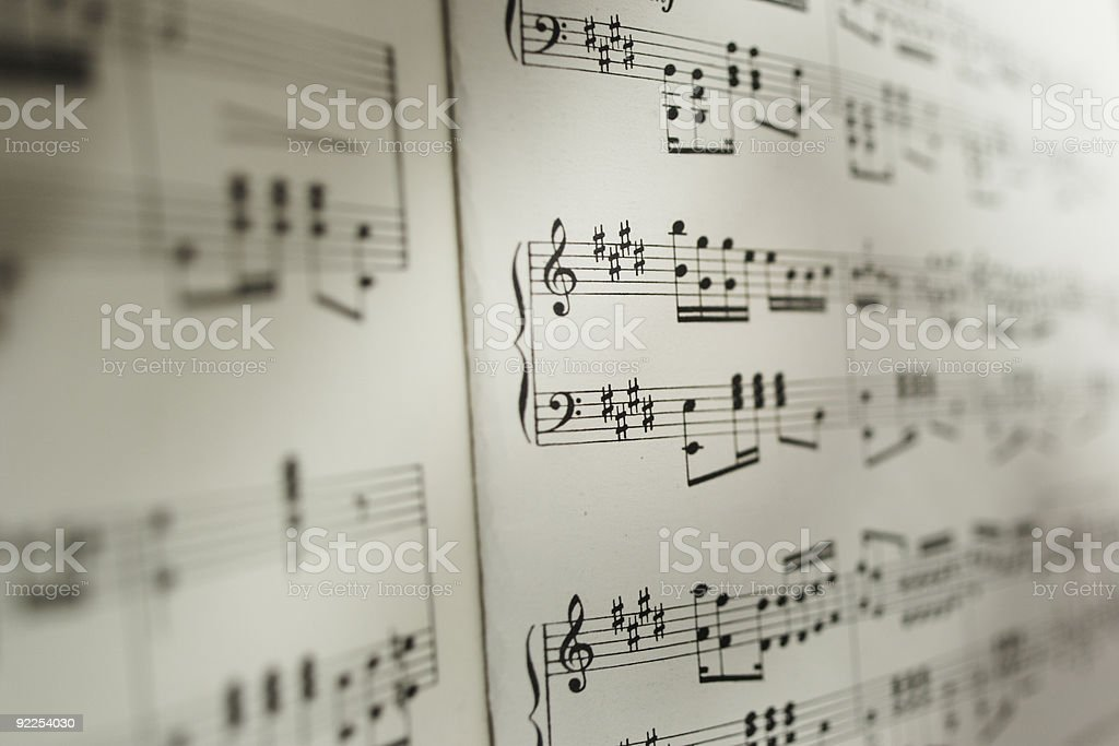 Musical notation royalty-free stock photo