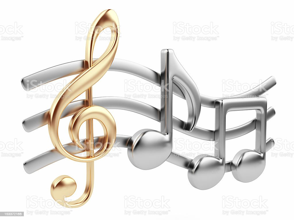 Musical note 3D stock photo