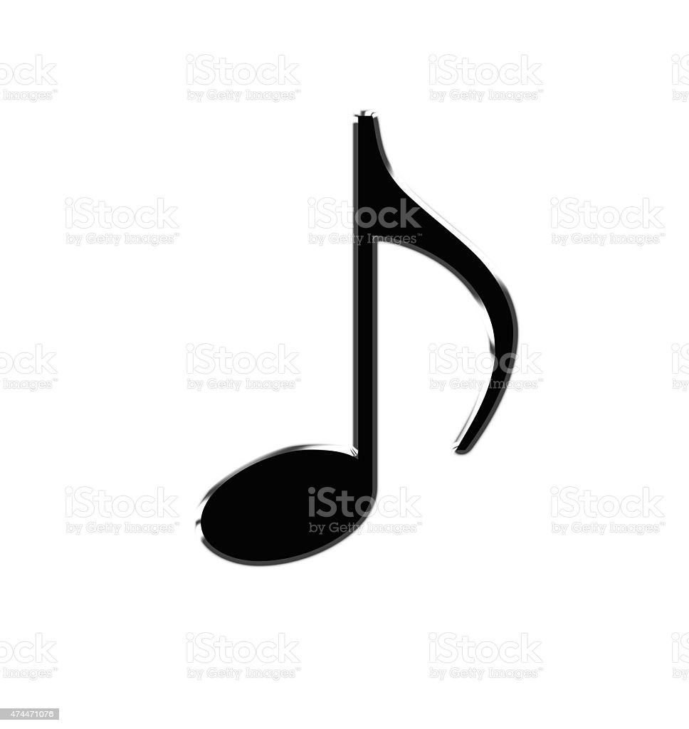 musical note on a white  background stock photo
