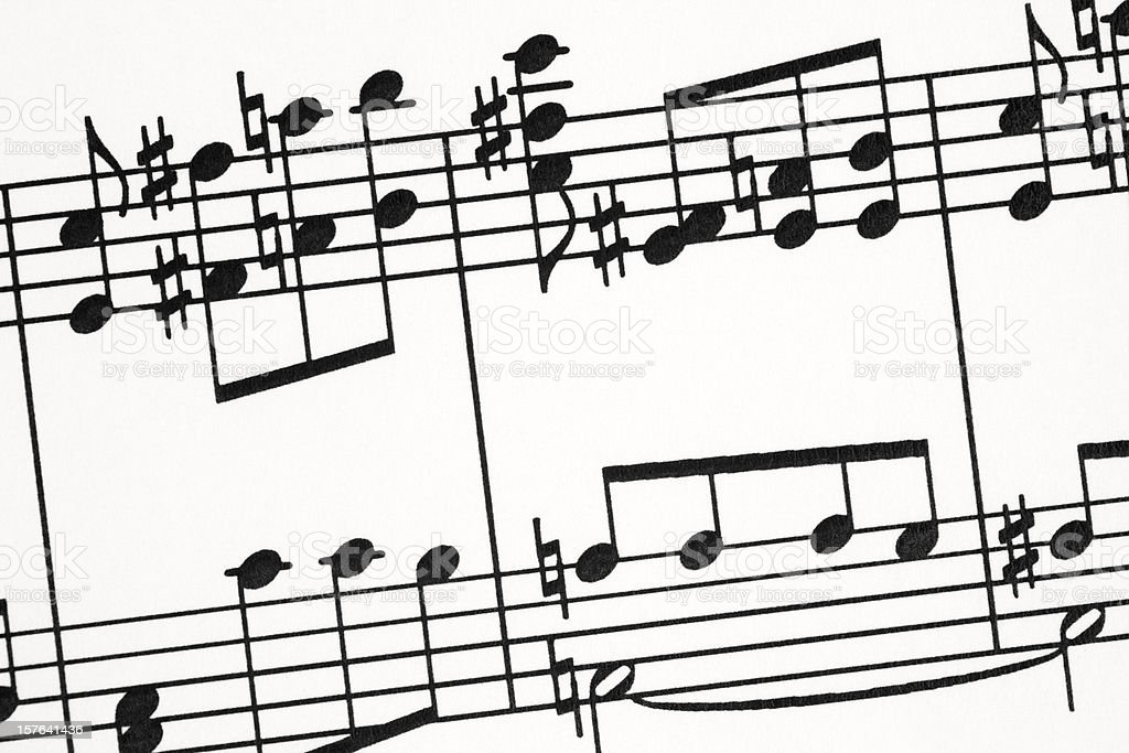 Musical Notes Close-up royalty-free stock photo