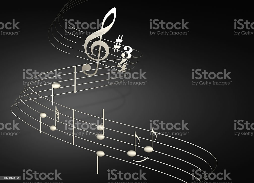 musical notes on black royalty-free stock photo