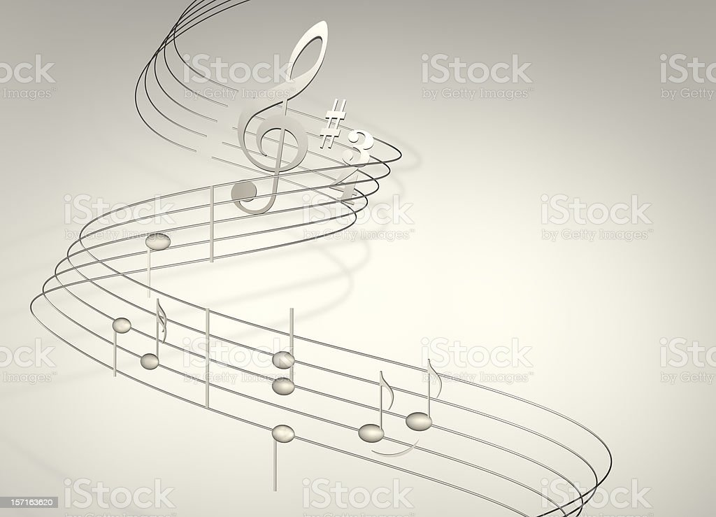 musical notes on white royalty-free stock photo