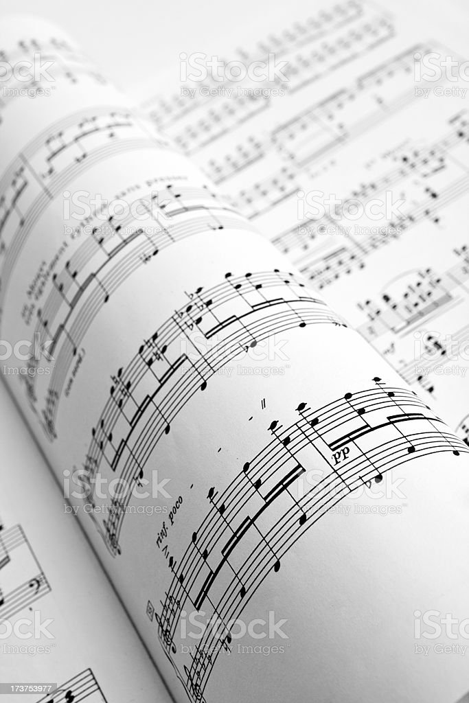 Musical notes royalty-free stock photo