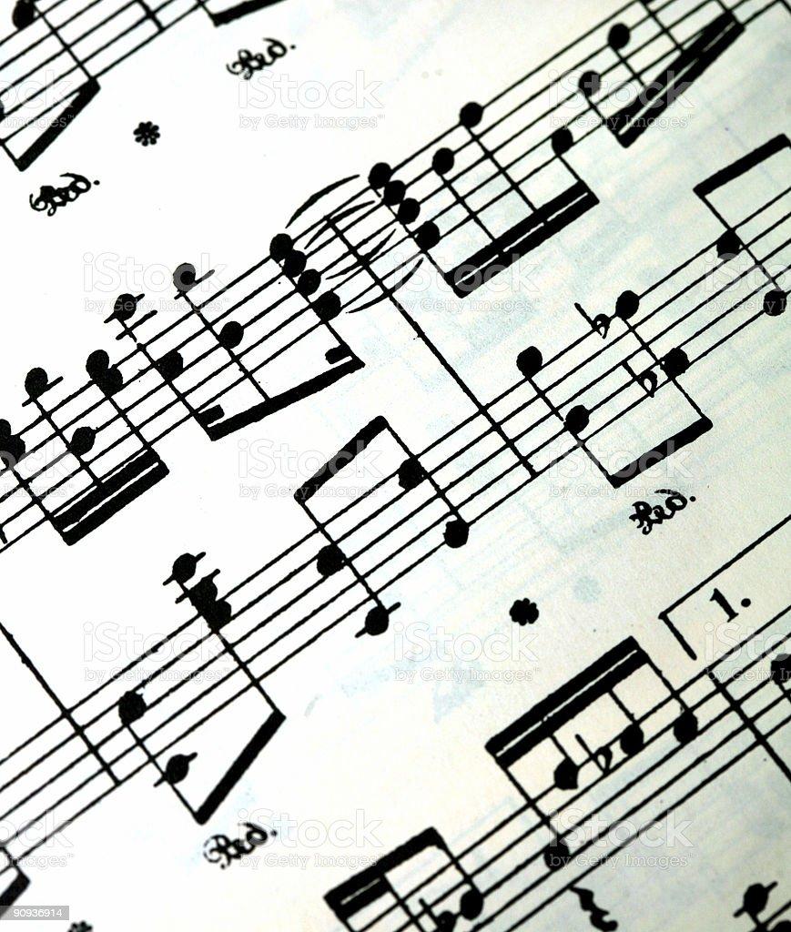 Musical Notes Sheet Music royalty-free stock photo