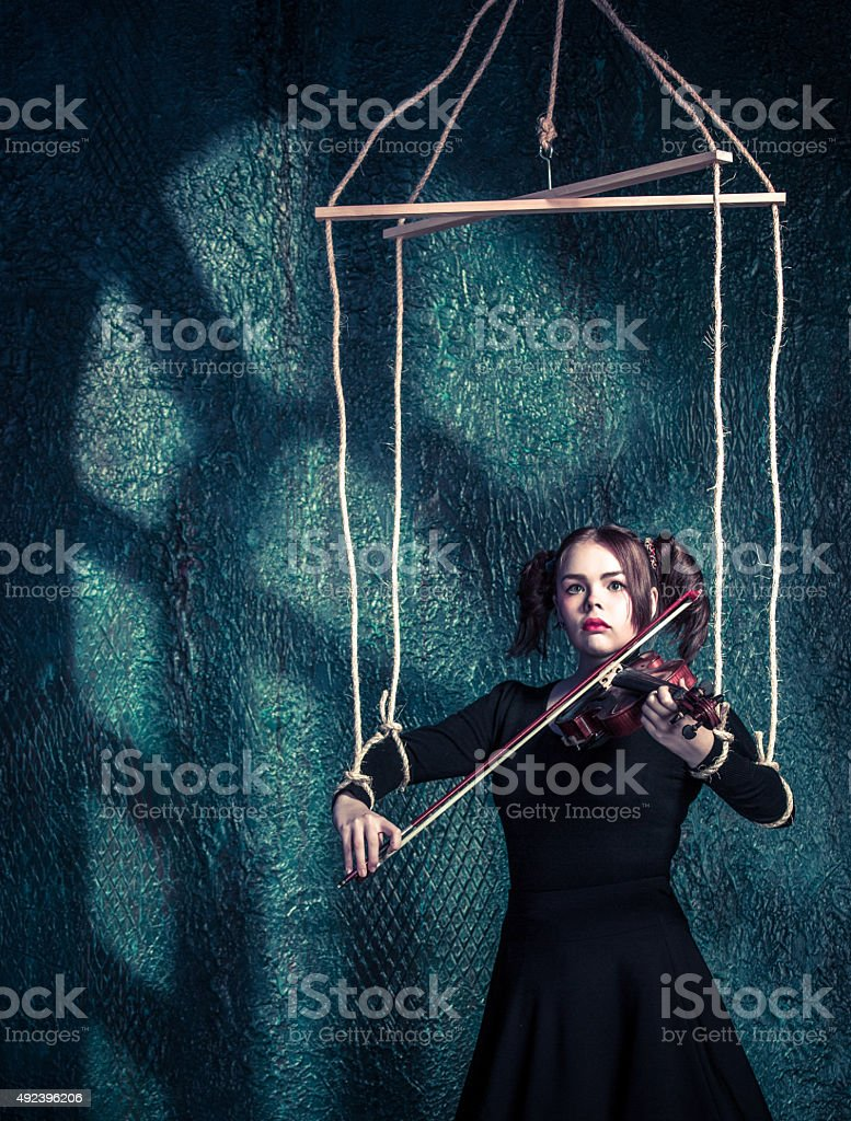 Musical Puppet stock photo