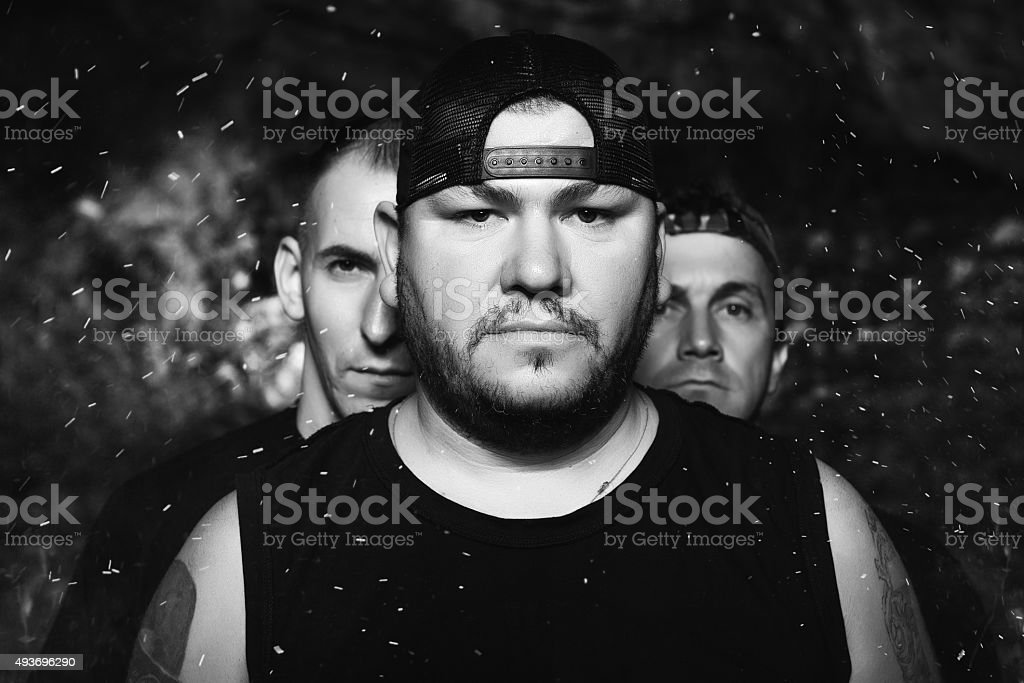 musical rock band with attitude stock photo