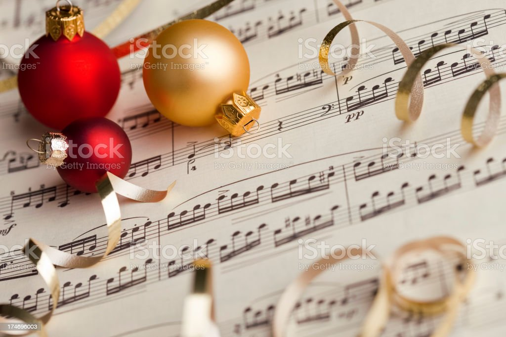 Musical Score Christmas royalty-free stock photo