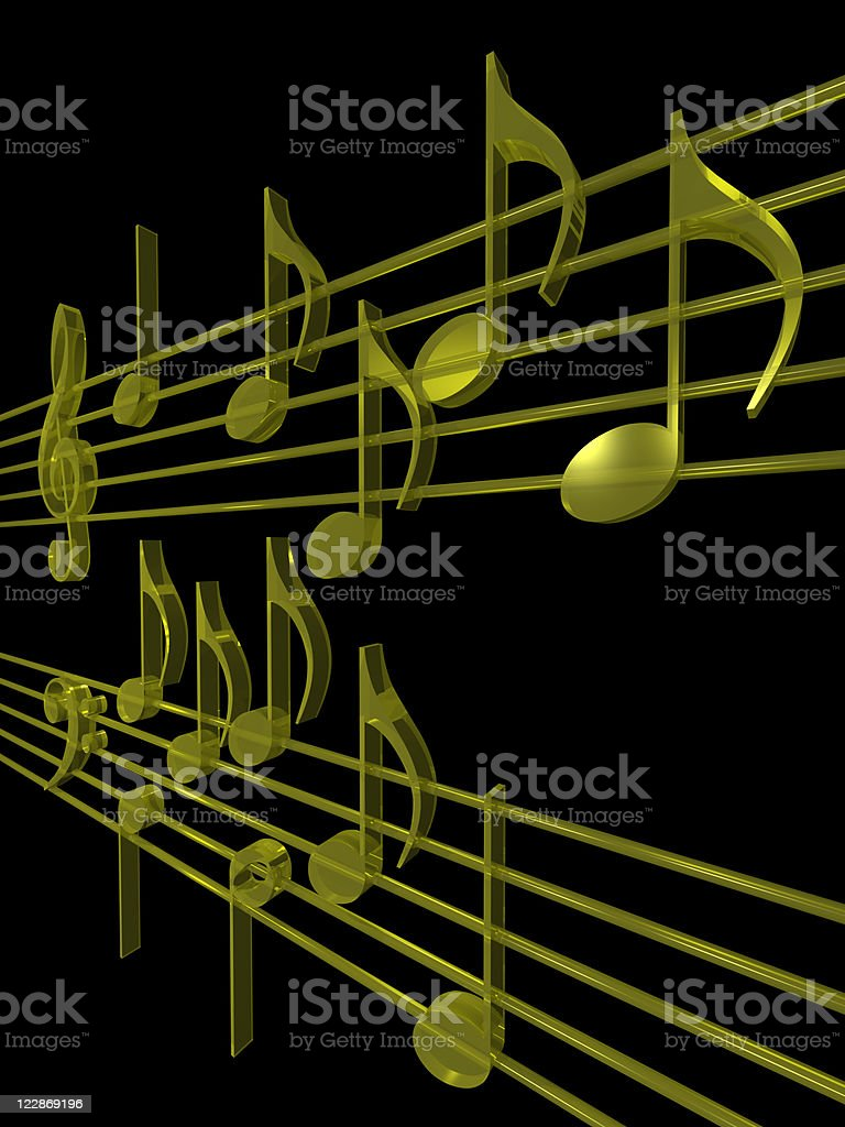 Musical Score royalty-free stock photo