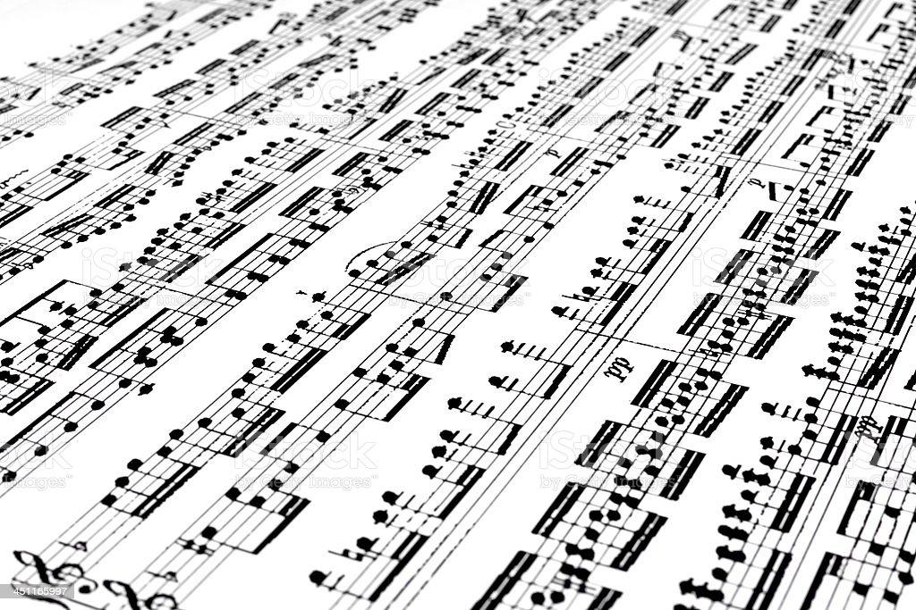Musical Score royalty-free stock photo