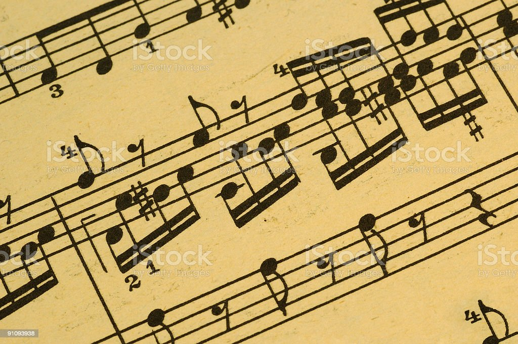 Musical Score stock photo