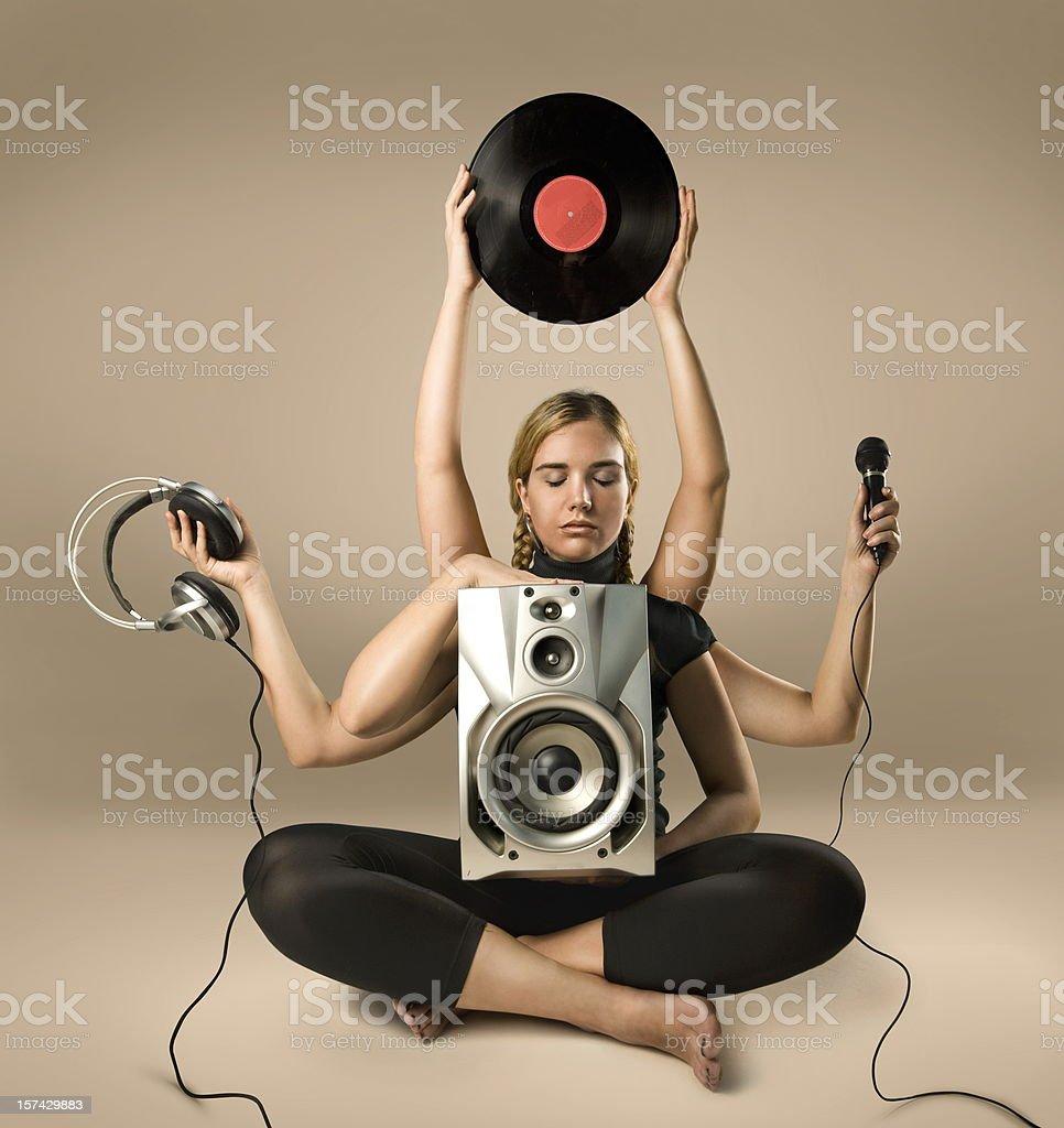 Musical Shiva royalty-free stock photo