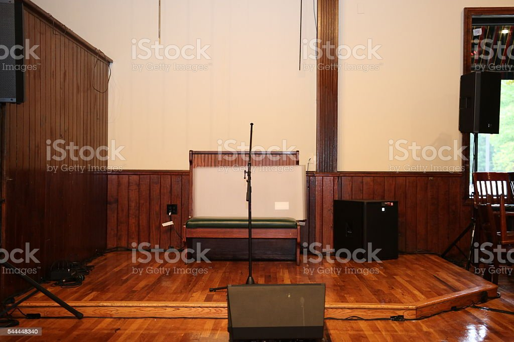Musical Stage in Bar stock photo