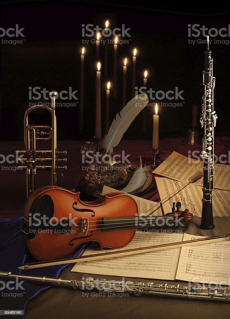 Musical Still Life royalty-free stock photo