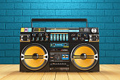 Musical tape player recoreder. Vintage radio FM player