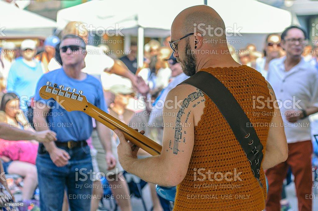 Musical Tatoo stock photo