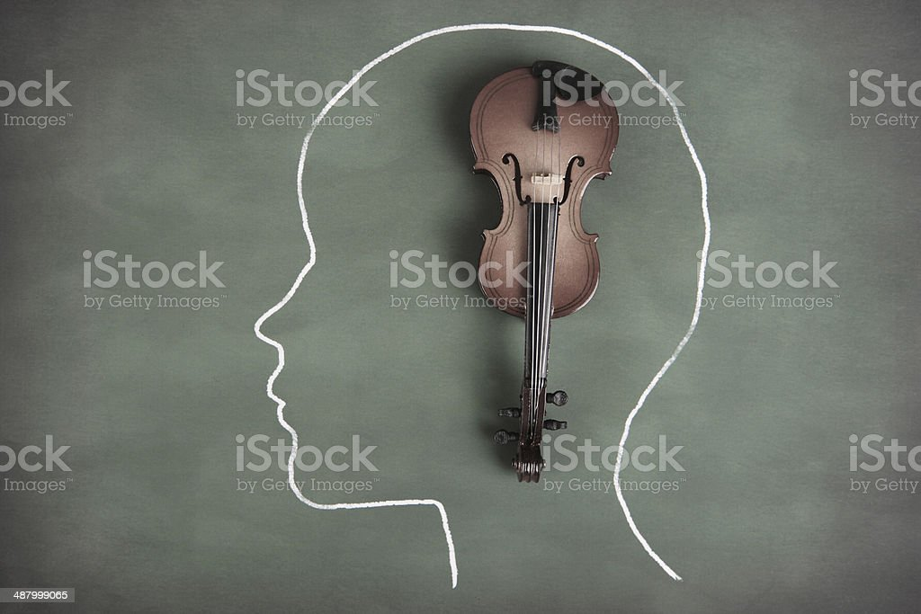 Musical Thoughts stock photo