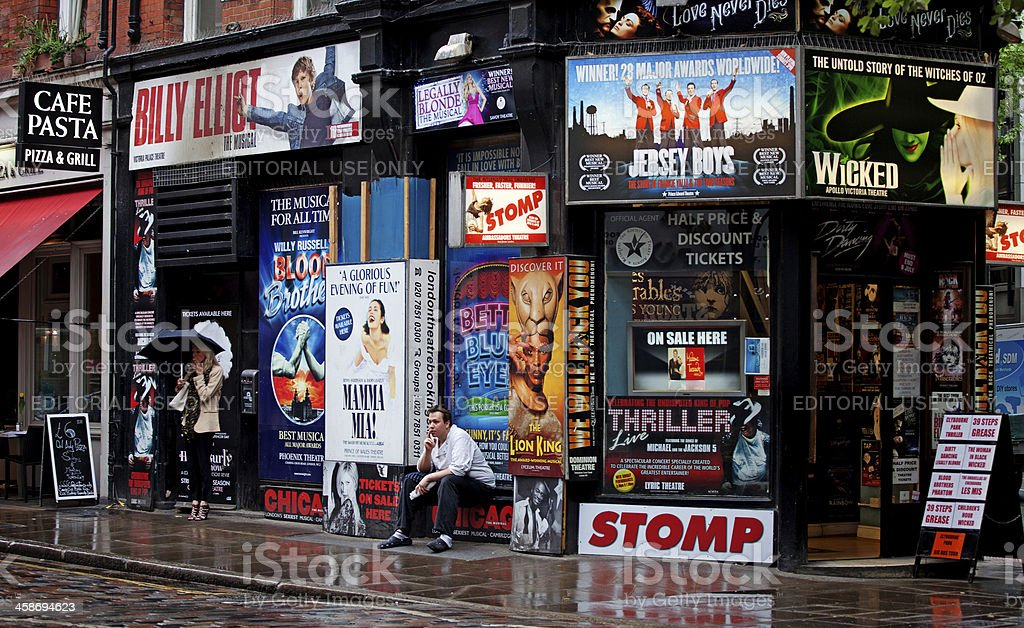 Musical tickets shop in London, UK stock photo