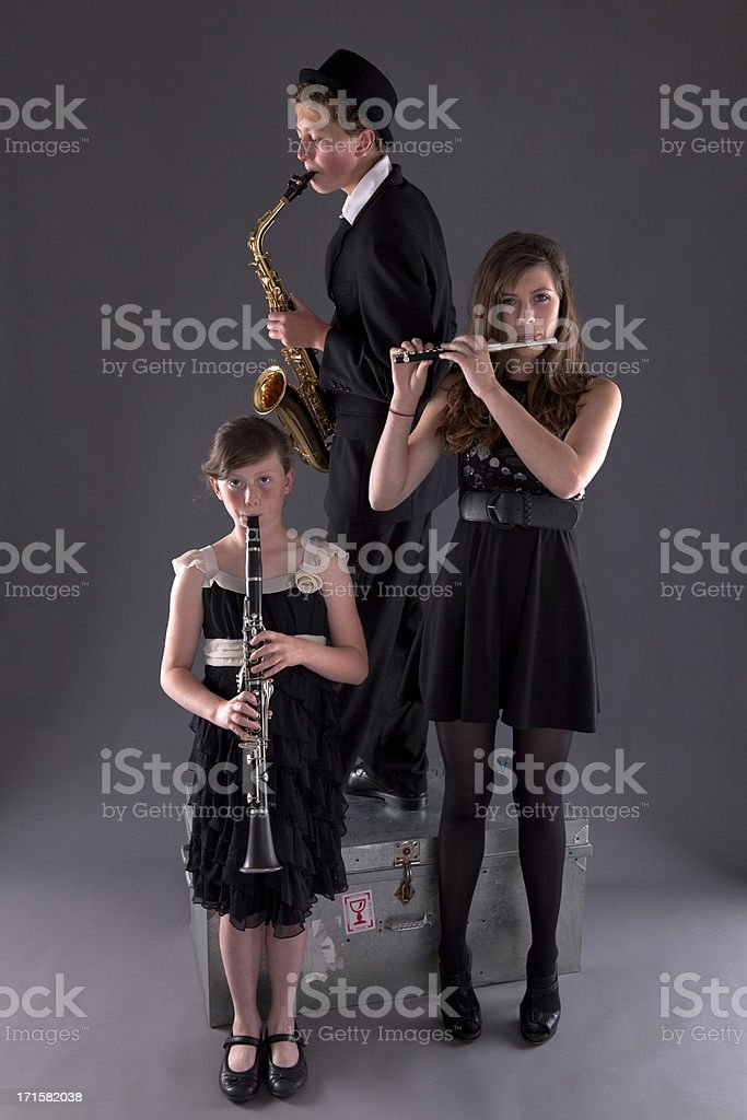 Musical Trio Of Woodwinds stock photo