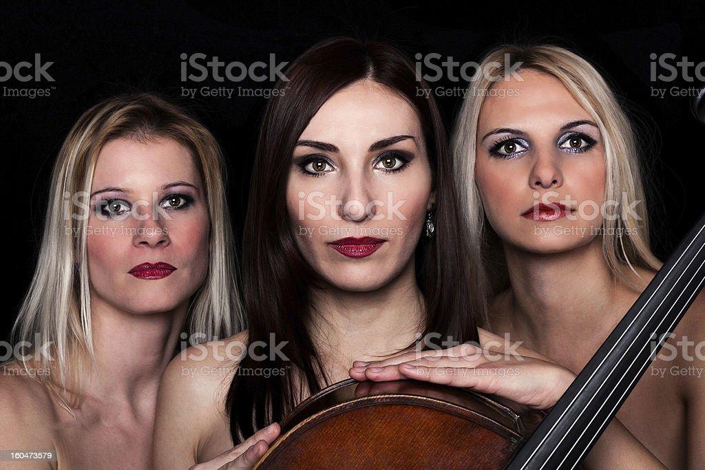 Musical Trio! royalty-free stock photo