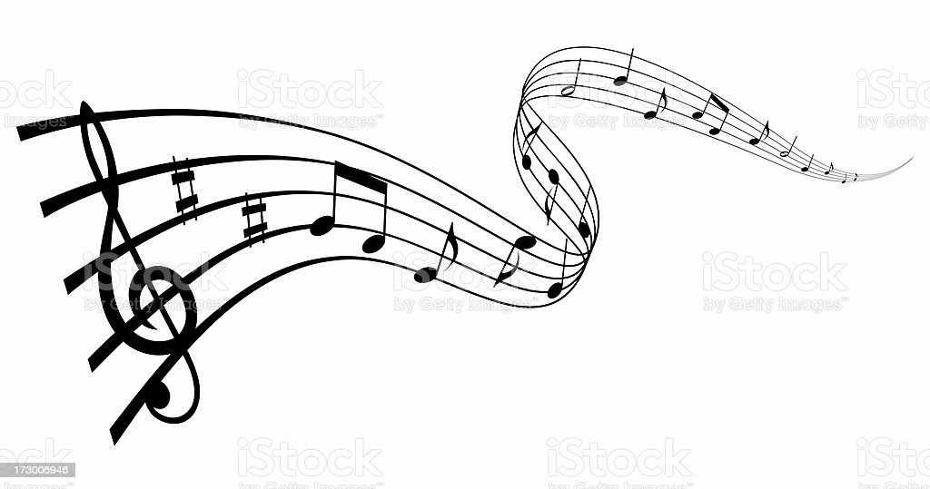 Musical wave stock photo