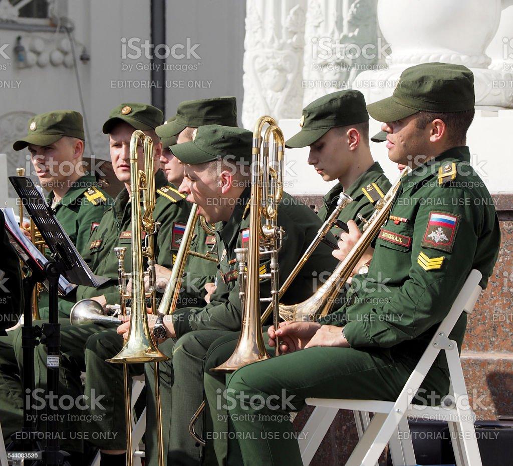 Musical yawn stock photo